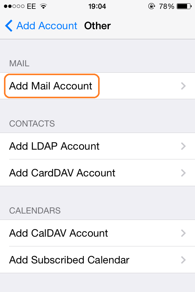 iPhone Email Setup | Step 4