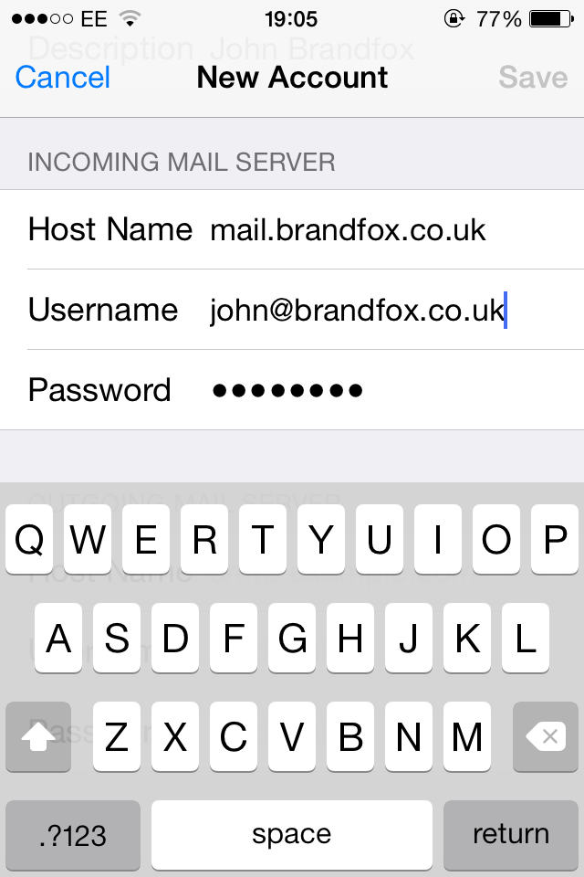iPhone Email Setup | Step 7