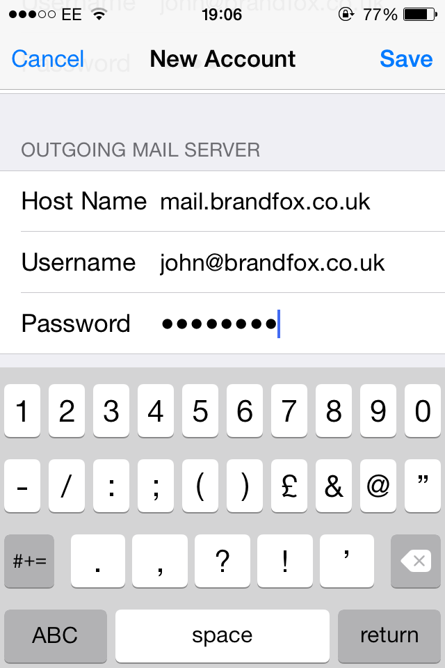 iPhone Email Setup | Step 8