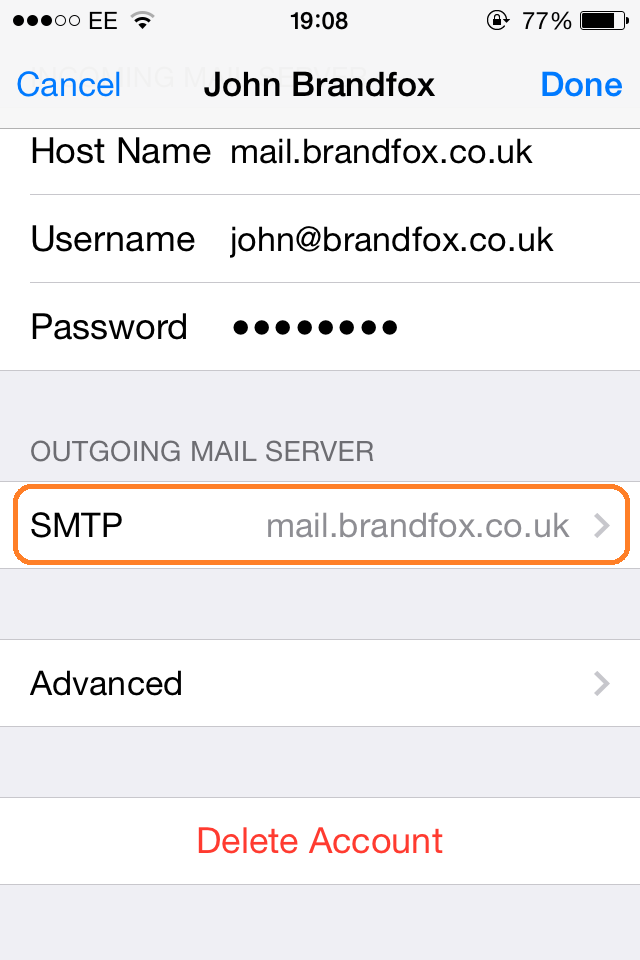 iPhone Email Setup | Step 13