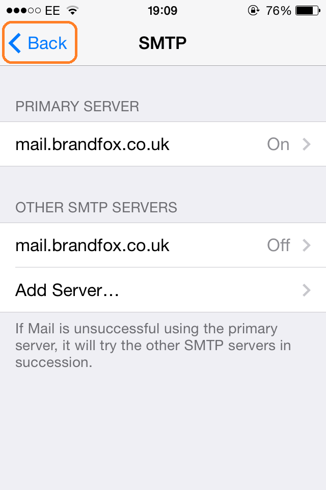 iPhone Email Setup | Step 17