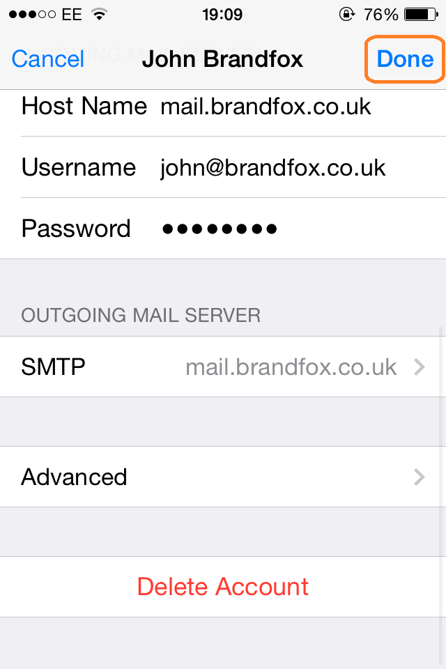 iPhone Email Setup | Step 20
