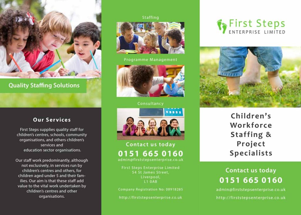 First Steps - Tri-fold Brochure - Print Design 1