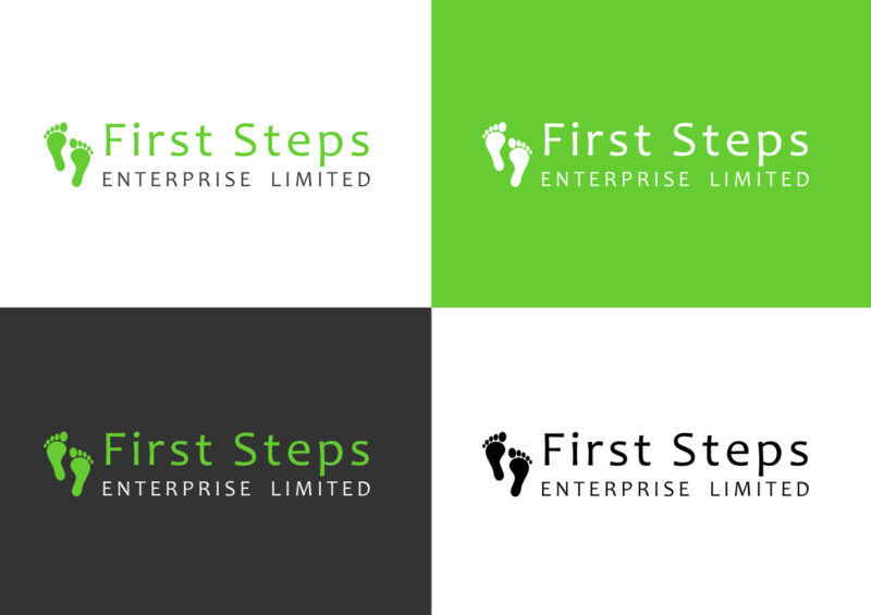 First Steps - Logo Design - Brand Design