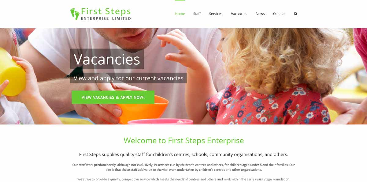 First Steps - Website Design